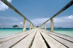 Jetty in Malaysia,Tioman,Malaysia. A wooden jetty on Tioman,Malaysia Royalty Free Stock Photo