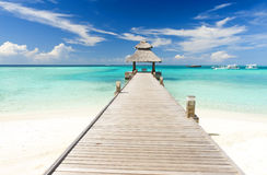 Jetty in the Maldives Stock Photos