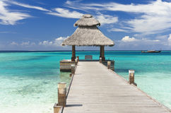 Jetty in the Maldives Royalty Free Stock Photo