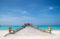Jetty - Maldives Royalty Free Stock Photo