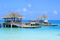 Jetty in Maldives Stock Photos