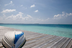 Jetty - Maldives Royalty Free Stock Image