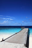 Jetty of maldivian island Royalty Free Stock Photography