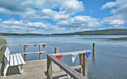 Malente,Lake Dieksee,holstein Switzerland,Germany. Jetty in Malente Timmdorf at Lake Dieksee,holstein Switzerland,Schleswig-Holstein,Germany Royalty Free Stock Images