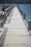 Jetty in the Marlborough Sounds Stock Image