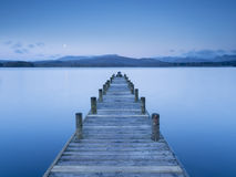 Jetty Moon Royalty Free Stock Photo
