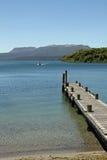Jetty na jeziorze Fotografia Stock