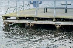 Jetty na jeziorze przy MÃ ¼ ritz Zdjęcia Stock