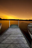 Jetty at night Royalty Free Stock Photos
