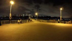 Jetty. Night scene of Bedok Jetty in Singapore stock video footage