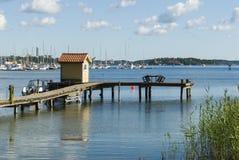 Jetty Nynashamn archipelago town Royalty Free Stock Image