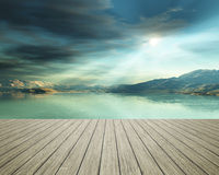 Jetty at the ocean Stock Photography