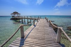 Jetty at ocean Royalty Free Stock Images