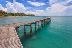 Jetty at ocean Stock Images