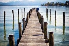 jetty old wooden Στοκ εικόνα με δικαίωμα ελεύθερης χρήσης