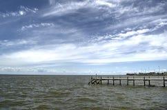 jetty old wooden στοκ εικόνες με δικαίωμα ελεύθερης χρήσης