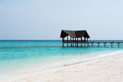 Jetty over the indian ocean Stock Images