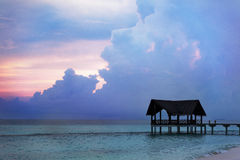 Jetty over the indian ocean Royalty Free Stock Image