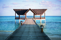 Jetty over the indian ocean Royalty Free Stock Photos