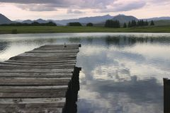 Jetty over lake. Jetty onto lake Royalty Free Stock Image