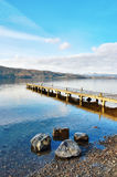 Jetty Over Lake, Windermere Stock Photo