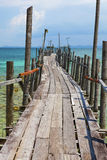 Jetty in paradise. Royalty Free Stock Photography