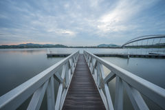 Jetty At Pedestrian Bridge, Putrajaya Stock Photos