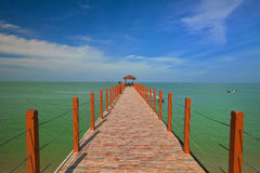 Jetty of Penang National Park, Malaysia. Beautiful landscape series of sunrise and sunset collection from George Town, Penang, Malaysia Royalty Free Stock Image