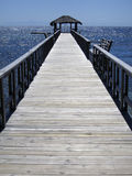 Jetty or pier. Jetty in wood extending into the ocean Stock Photos