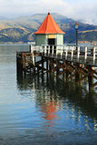 Jetty pier Akaroa New Zealand Royalty Free Stock Photo