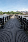 Jetty/pier on the River Thames Royalty Free Stock Photo
