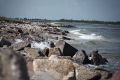 Jetty in Point Lookout Royalty Free Stock Image