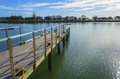 Jetty and Pontoons. At Judges Bay Parnell Auckland New Zealand Stock Photo