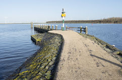 Jetty in the port of Eemmeer Spakenburg. stock image