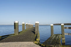 Jetty in the port of Spakenburg. Royalty Free Stock Images