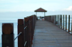 Jetty Posts Royalty Free Stock Images