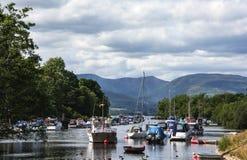 Jetty przy Balloch, Loch Lomond zdjęcia royalty free