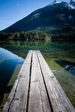 Jetty przy jeziorem przy Bavarias Berchtesgaden Obrazy Stock