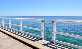 Jetty Railing with Indian Ocean Seascape Royalty Free Stock Photo