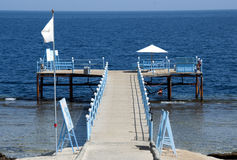 Jetty on Red Sea - Egypt Stock Image