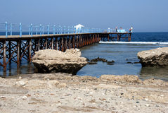 Jetty on Red Sea - Egypt Royalty Free Stock Image
