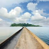 Jetty road to ocean Royalty Free Stock Images
