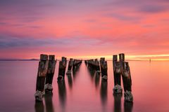 The Jetty Ruins at Clifton Springs Royalty Free Stock Photography