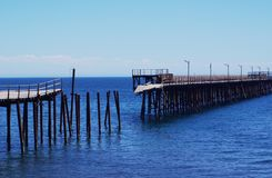 Jetty Ruins at Rapid Bay. The crumbling remains of the old jetty at Rapid Bay, a popular diving site in South Australia Stock Images