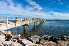 The jetty in Sassnitz Stock Images