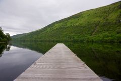 Jetty in scotland. At a loch Royalty Free Stock Photography