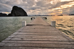 Jetty into the Sea Royalty Free Stock Images