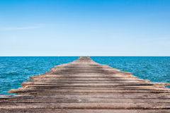 Jetty at sea on daylight Stock Photos