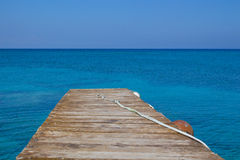 Jetty in the Sea Stock Image