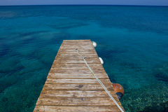 Jetty in the Sea Royalty Free Stock Images
